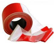 Výstražná páska červená-bílá - 100m